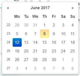 New datepicker with week numbers